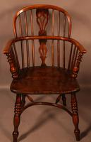 A Set of 4 Yew Tree Windsor Chairs Rockley Workshop (12 of 21)