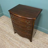 Small Edwardian Mahogany Antique Bow Fronted Chest of Drawers (7 of 8)