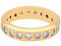 1.76ct Diamond & 18ct Yellow Gold Full Eternity Ring - Vintage c.1960 (3 of 9)