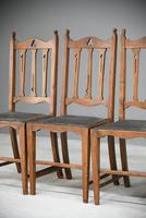 Arts & Crafts Oak Dining Chairs (3 of 12)