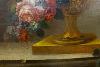 18th Century French Oil Painting. Still Life of Flowers. Artist: J. L Boizet 1789 (7 of 11)