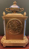 19th Century Ormolu & Painted Porcelain Striking 8-day Mantel Clock (6 of 7)