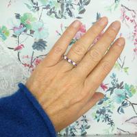 Vintage 18ct Ruby & Diamond seven stone ring ~ 40th wedding Anniversary (3 of 10)