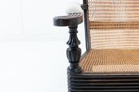 19th Century Anglo Indian Ebonised Teak Armchair (4 of 11)