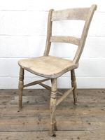 Pair of Antique Bar Back Farmhouse Kitchen Chairs (7 of 8)