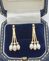 18ct Yellow Gold Freshwater Pearl & Diamond Earrings (4 of 4)