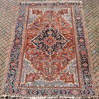 Antique Heriz roomsize carpet 347x246cm (8 of 9)