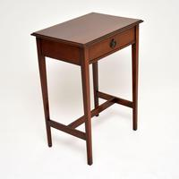 Antique Edwardian Inlaid Mahogany Side Table (4 of 9)