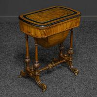Victorian Walnut Games / Sewing Table (8 of 8)