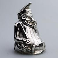 A Rare & Fine Solid Silver Novelty Mr Punch Pepper Shaker William Sparrow C.1903 (2 of 8)