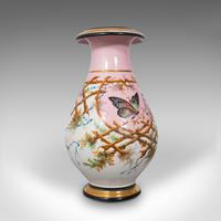 Antique Pair of Peony Vases, French, Decorative Ceramic Urn, Victorian c.1890 (8 of 12)