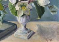 Fabulous Original 20th Century Floral Still Life Study Oil on Board Painting (6 of 11)