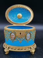 Exclusive Large Box / Box in Blue Opaline Glass with Miniatures from Paris / Palais-Royal (5 of 7)