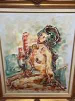 """Impressionism Oil Painting Thailand School """"Posing Nude Lady"""" (18 of 25)"""