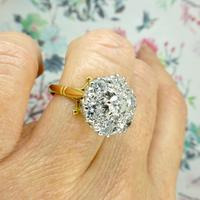 Impressive Vintage 18ct gold diamond cluster engagement ring 1.40 carat ~ With Independent Valuation (5 of 9)