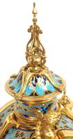 Incredible Antique French Champlevé Ormolu Bronze 8 Day Striking Mantel Clock c.1860 (8 of 13)