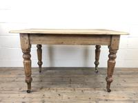 Antique Pine Farmhouse Kitchen Table with Drawer (2 of 13)