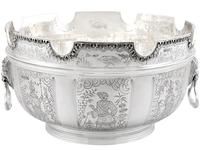 Sterling Silver Monteith Bowl - Antique Edwardian 1905 (3 of 18)