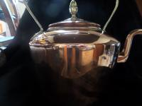 Large Copper & Brass Handled & Finial Kettle 1930's (3 of 3)