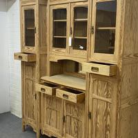 Very large antique dresser with glazed display cupboards (8 of 9)