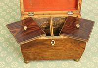 Antique Rosewood Tea Caddy (15 of 15)