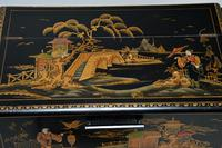Art Deco Lacquered Chinoiserie Drinks Cabinet / Sideboard (10 of 16)