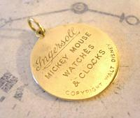 Pocket Watch Chain Ingersoll Mickey Mouse Fob 1930s Original Brass Fob (2 of 8)