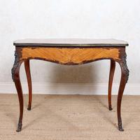 Serpentine Writing Table Louis XVI Style Inlaid Kingwood (12 of 19)