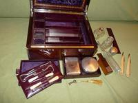 Quality Edge Bound Rosewood Gents Fitted Dressing Box c.1850 (10 of 16)
