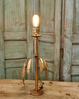 French Art Deco Gold Palm Leaf Table Lamp (3 of 6)