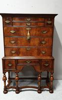 Outstanding Burr Walnut Chest of Drawers on Stand (9 of 14)