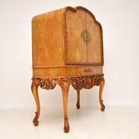 Antique Burr Walnut Cocktail Drinks Cabinet by Hille (3 of 11)