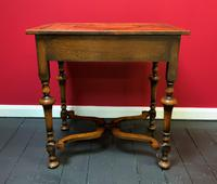 Outstanding William & Mary Style Leather & Stud Bound Country Oak Lowboy Table (6 of 18)