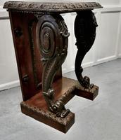 Pair of 19th Century Art Nouveau Gothic Carved Oak Console Pedestals (11 of 11)