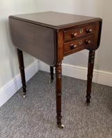 Victorian Mahogany Drop Flap Work Table (8 of 18)
