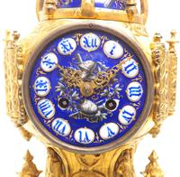 Antique 8 Day Ormolu Mantel Clock Sevres Gothic Knight Tower French Mantle Clock (3 of 8)