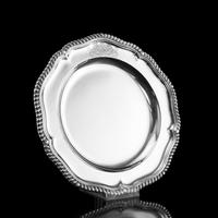 Antique Solid Silver Dish with Coat of Arms for Michael Bass, 1st Baron Burton - Garrard 1888 (12 of 21)