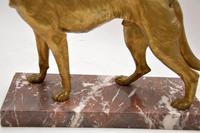 Large Antique Gilt Bronze Dog Sculpture by Robert  Bousquet (7 of 9)