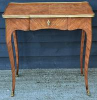Exceptional Quality 19th Century French Kingwood Writing Table/ Lamp Table/ Centre Table. (8 of 15)