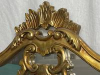Large French Regency Gilt Pier Glass Acanthus Crown Wall Overmantle Mirror (3 of 13)