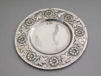 Victorian Arts & Crafts Hand Raised Silver Exhibition Dish by W G Connell, London, 1893