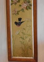 Pair of Oil Paintings of Finches in Blossom (9 of 12)