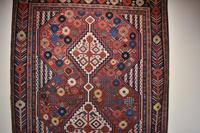 Antique Khamseh tribal rug 217x124cm (4 of 10)