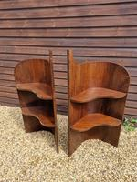 Pair of Late 19th Century Mahogany Corner Bedside Stands (2 of 2)