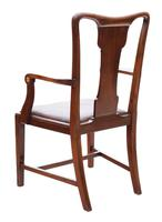 Set of 8 Inlaid Mahogany Dining Chairs Art Nouveau c.1910 (6 of 10)