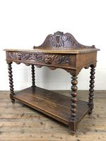 Victorian Gothic Oak Side Table with Green Man Details (9 of 17)