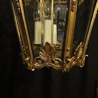 French 19th Century Gilt Bronze Antique Hall Lantern (8 of 10)