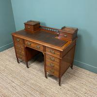 High Quality Victorian Maple & Co Antique Pedestal Desk (7 of 9)