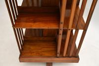 Antique Victorian Walnut Revolving Bookcase (9 of 10)