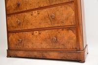 Antique Victorian Burr Walnut Chest of Drawers (3 of 11)